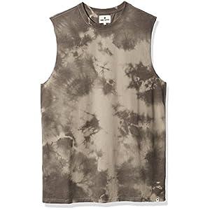 Rebel Canyon Young Men's Cloud Dye Muscle Crewneck Tank Top Large Khaki