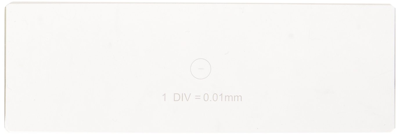 Microscope Stage Calibration Slide for USB Camera 0.01mm Stage Micrometer United Scope MR095