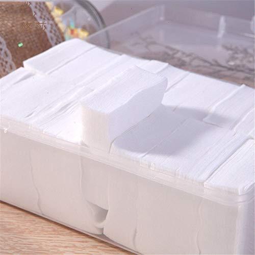 KoTag Makeup Facial Cotton Pads, 1000pcs Soft Makeup Cotton Pads Organic Cleansing Pads for Removing Face Eyes Nail (Color : White, Size : S)