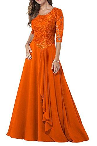 Kleider Spitze Festlichkleider Blau Jugendweihe Kleider Damen Marie La Braut Orange Lang Brautmutter Royal Abendkleider vF4v0q