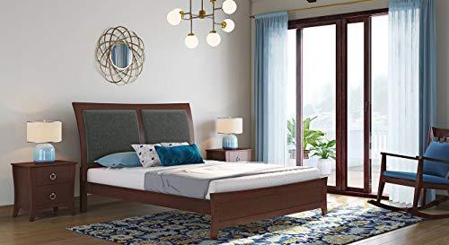 Urban Ladder Packard Queen Size Bed  Solid Wood   Finish : Dark Walnut