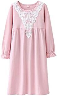 KINYBABY Little Girls Princess Nightgown Cotton Long Sleeve Pajamas Sleep Shirts