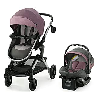 Graco Modes Nest Travel System | Includes Baby Stroller with Height Adjustable Reversible Seat, Bassinet Mode, Lightweight Aluminum Frame and SnugRide 35 Lite Elite Infant Car Seat, Norah