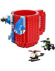 uild-on Brick Mug -Fubarbar 12 oz Coffee Cups Funny Tea Mug Beverage Cup Puzzle Mug Building Bricks enjoy Novelty Creative DIY Building Blocks Office Pen Cups