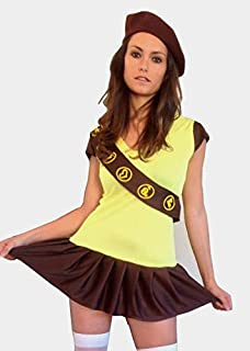 Adult Womens Brownie (Girl Guides) Fancy Dress Costume Small ...