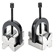 Grizzly H5608 V-Block Pair with Clamps 1-5/8-Inch