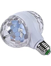 F Fityle Disco Ball Light Strobe Lights for Parties- 6W E27 RGB Multicolor Led Party Disco Lights Strobe Light DJ Bulb Decor for Disco, Club, Party