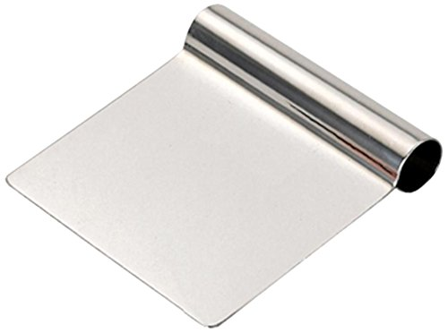 De Buyer 3300.12 Coupe-Pâte Droit Rigide Inox - 12 x 9 cm product image