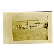Vintage Seaplane at Shore Real Photo Postcard 1920's SOLIO Stamp Box