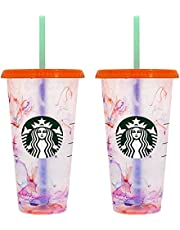 Starbucks Summer 2021 Swirl Color Changing Reusable 24oz. Cold Cup
