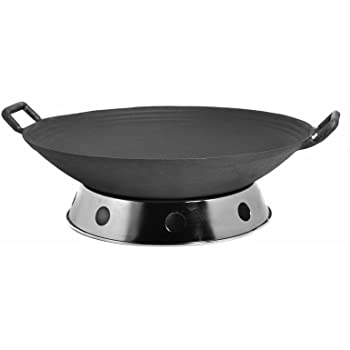 Amazon Com Light Weight Traditional Cast Iron Wok With