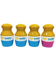 Solar Buddies Child Friendly Sunscreen Applicator with sponge roll on for kids suncream and lotion (Blue, Blue, Blue, Green)