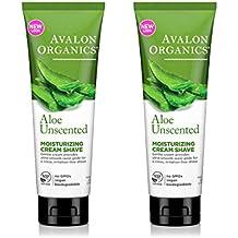 Avalon Organics Moisturizing Shave Cream, Aloe Unscented - 8 oz - 2 pk