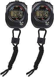 LIXFDJ Timer,Sport Digital Stopwatch,Pair of Chronograph Accurate Digital Handheld Multi-Function Professional