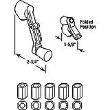 Universal Spline Folding Casement Handle, White