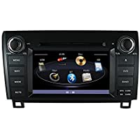 Indash Car Stereo Radio Head Unit GPS Navigation DVD Player for 2005-2013 Toyota Tundra 2008-2014 Sequoia / Bluetooth/SD/USB/FM/AM Radio/Steering Wheel Control/AV-IN/Free Map