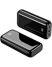 Power Bank 22,5W bärbar telefonladdare 100000 mAh hög kapacitet USB C PD Snabbladdning externt batteripaket 4 portar LCD-skärm Powerpack för iPhone Samsung Tablet