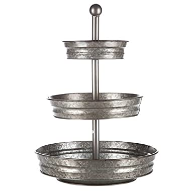 3 Tier serving tray galvanized farmhouse stand