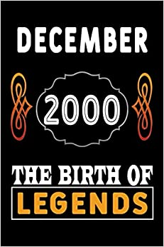DECEMBER 2000 The Birth Of Legends: 120 Pages 6''x9