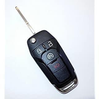 Sale New 4 Button Ford F150 Flipkey 164-R8134 N5F-A08TDA W/Duracell Battery Inside