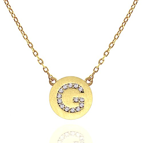 Steel Stamped Coin Necklace G (Silver) - 1