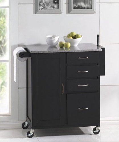 Amazon.com: acme Kitchen Island Cart with Granite Top ...