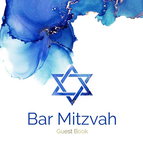 Bar Mitzvah Guest Book: Modern Bar Mitzvah Guestbook Celebrate Coming of Age Party for Jewish Boy 13th Birthday PLUS  Gift Log Tracker