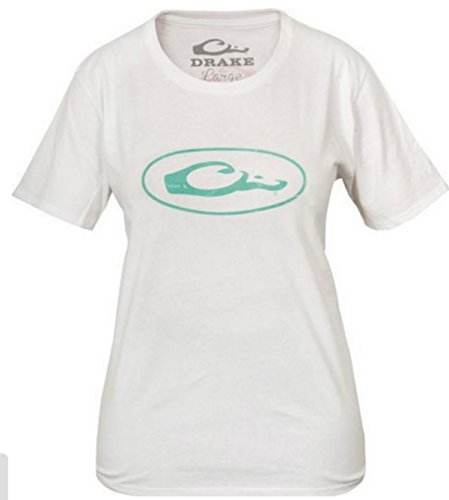 DRAKE WATERFOWL LADIES OVAL LOGO TEE (M, WHT)