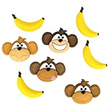 Dress It Up Shaped Novelty Buttons Monkey See Monkey Do - per pack of 6