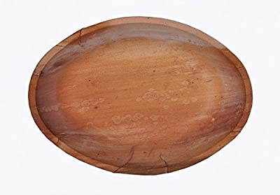 "12.5"" Large Oval Palm Leaf Bowl"