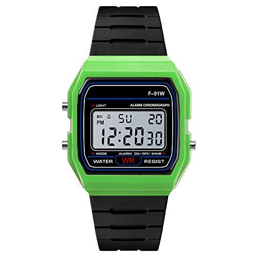 IslandseLuxury Men Analog Digital Military Army Sport LED Waterproof Wrist Watch (Green)