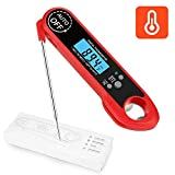 Aitsite Meat Thermometer Digital Instant Read Thermometers with Bottle Opener Calibration Bright LCD