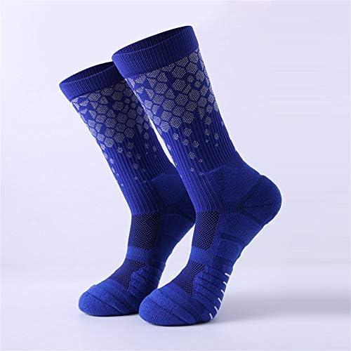 スポーツソックス 靴下 大人のスポーツソックス、新しいチューブバスケットボールソックス、ハニカムチューブ、バスケットボール、通気性と吸汗性 (Color : Blue, Size : One size)