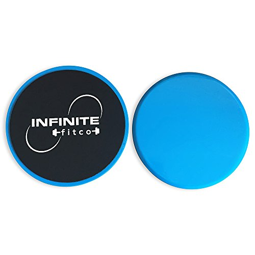 Infinite Fit Co- Gliding Discs - 1 Pair Core Sliders for Strength and Stability – Abdominal, Glutes, Cardio, and Full Body Exercise Slides for Home Workouts and Travel by Infinite Fit Co