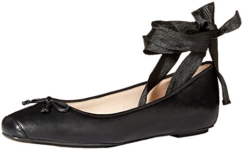 (Cole Haan Women's Downtown Ballet Flat, Black Leather 9 B US )