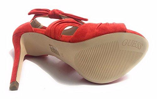 Guess Chaussures Femme Sandale Mod. Azali Tc 110 Coral Suede Cuir Ds17gu57
