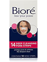 Biore Deep Cleansing Pore Strips, 14 Count Nose Strips