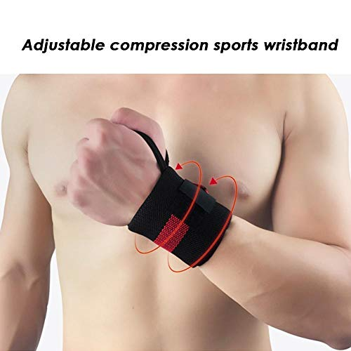Wrist Wraps,Weight Lifting Wrist Support Wraps with Thumb Loop | Elasticated Straps Strength Training, Powerlifting, Bodybuilding, Gymnastics, Workout and -