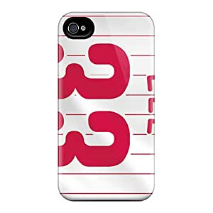 Protective Tpu Case With Fashion Design For Iphone 4/4s (philadelphia Phillies)