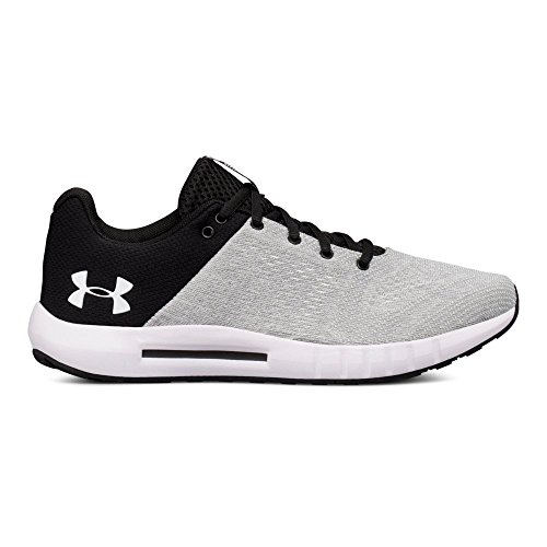 Under Armour Women's Micro G Pursuit Running Shoe, White/Black, 10 M US