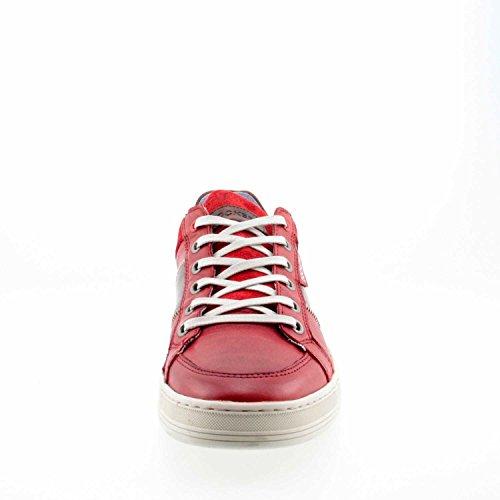 Dockers 40sr003 201 700 - Zapatos de cordones de Piel para hombre Rojo