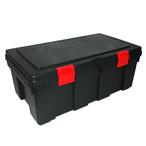 GSC SL3500 Storage Locker, Black with Red Latches, 33X19-Inch (Tough Chest)