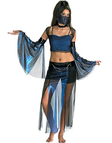 Genie Costumes For Teens (Meannie Genie Harem Girl Sexy Belly Dancer Young Adult Costume Teen 7-9)