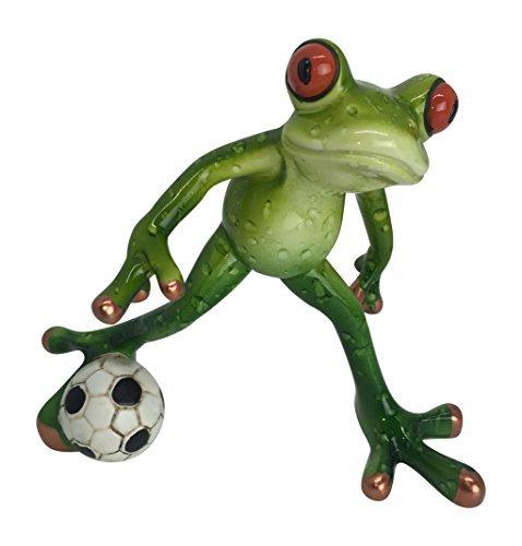 Figurine Football Player - Novelty Frog Soccer Player Figurine Futbol Football 4.5