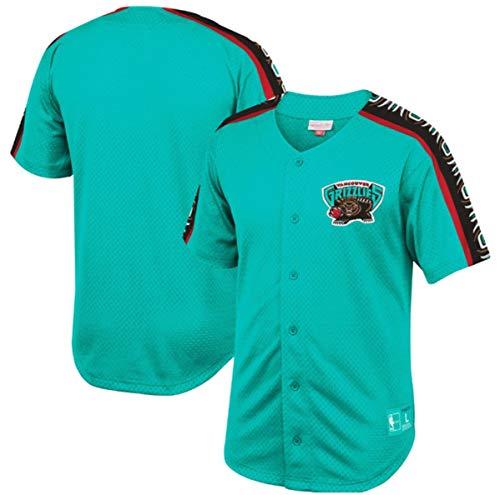 Vancouver Grizzlies Winning Team Men's Teal Mesh Button Front Shirt (Medium)