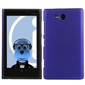 iTALKonline Nokia Lumia 820 BLUE Hard Slim Grip Wave Tough Case Soft Skin Cover