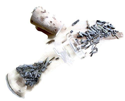 10 Carats, 3mm, Gray Rough Diamond Sticks, Raw diamond Pipes, Bottle Jewelry, Natural Glass Vial Pendant by GemsDiamondsbySHIKHA