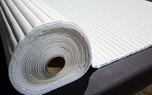 Pleated Marine Vinyl Upholstery Fabric Bright White 54'' Wide by 10 Yards Boat Auto by Bry-Tech Marine1 (Image #3)