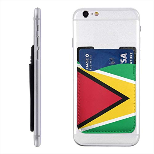 - Flag of Guyana Phone Card Holder Silicone 3M Adhesive Stick-on ID Credit Card Wallet Sleeves Pouch Phone Pocket
