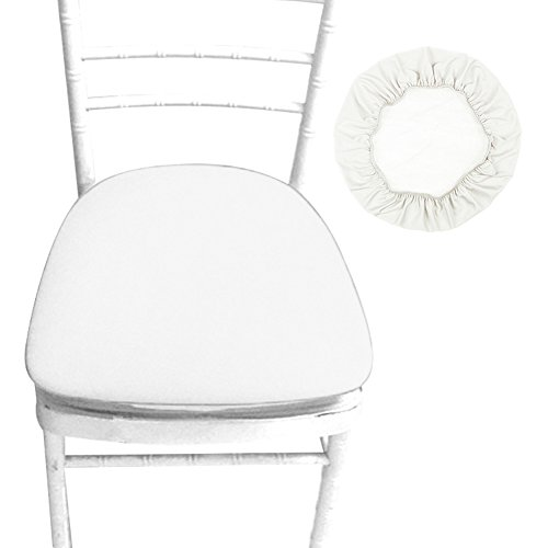 Dining Room Office Bar Stool - Sundlight Chair Seat Covers, Removable Elastic Stretch Polyester Stool Chairs Covers Dust-proof Round Slipcover for Dining Room Patio Office Chair,Bar Stools (6PCS, Beige)